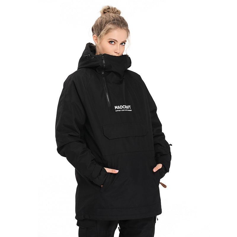 Women's Mad Craft Snow Tech Unisex Pullover Waterproof Snow Hoodie
