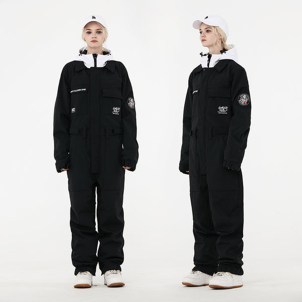 Women's Unisex Nandn Mountain Player Winter One-piece Jumpsuit Snowsuits