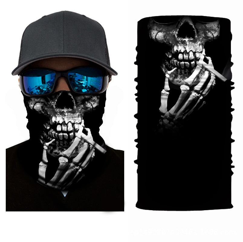Unisex 3D Smoking Skull Face Masks & Neck Warmer