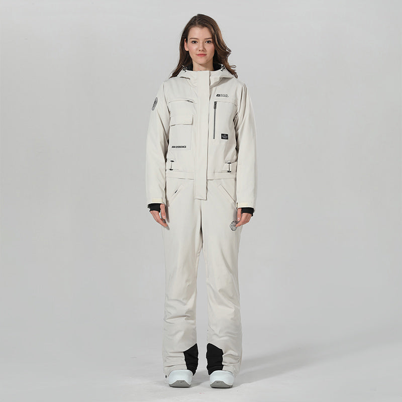 Womens Winter Snowsports One Piece Ski Jumpsuit Full Body Snowsuits
