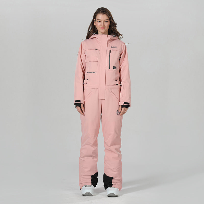 Women's High Experience Winter Snowsports Stylish One Piece Ski Jumpsuit