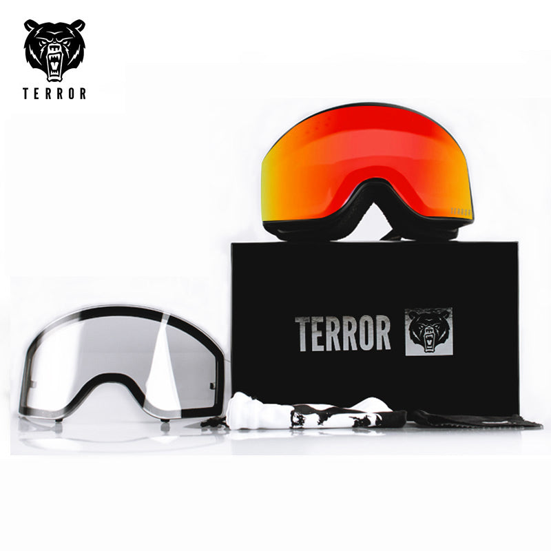Unisex Terror Frame Snowboard Goggles / 1 Spare Lens