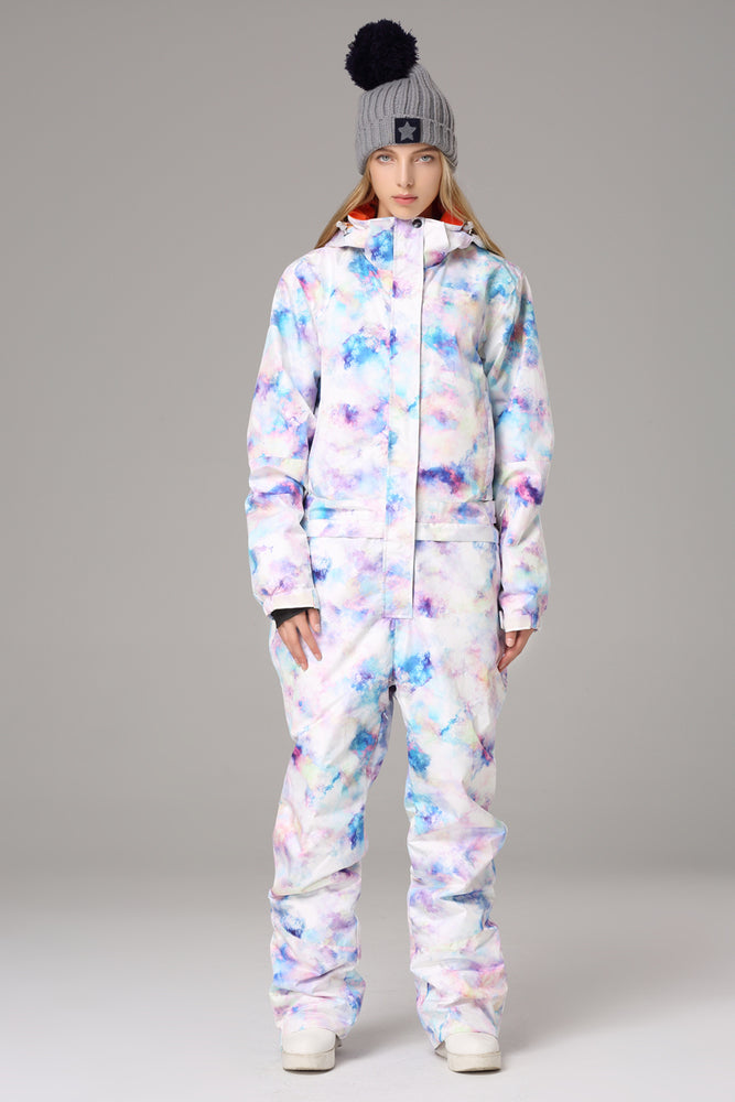 Women's Searipe One Piece Colorful Ski Suits Snow Jumpsuit