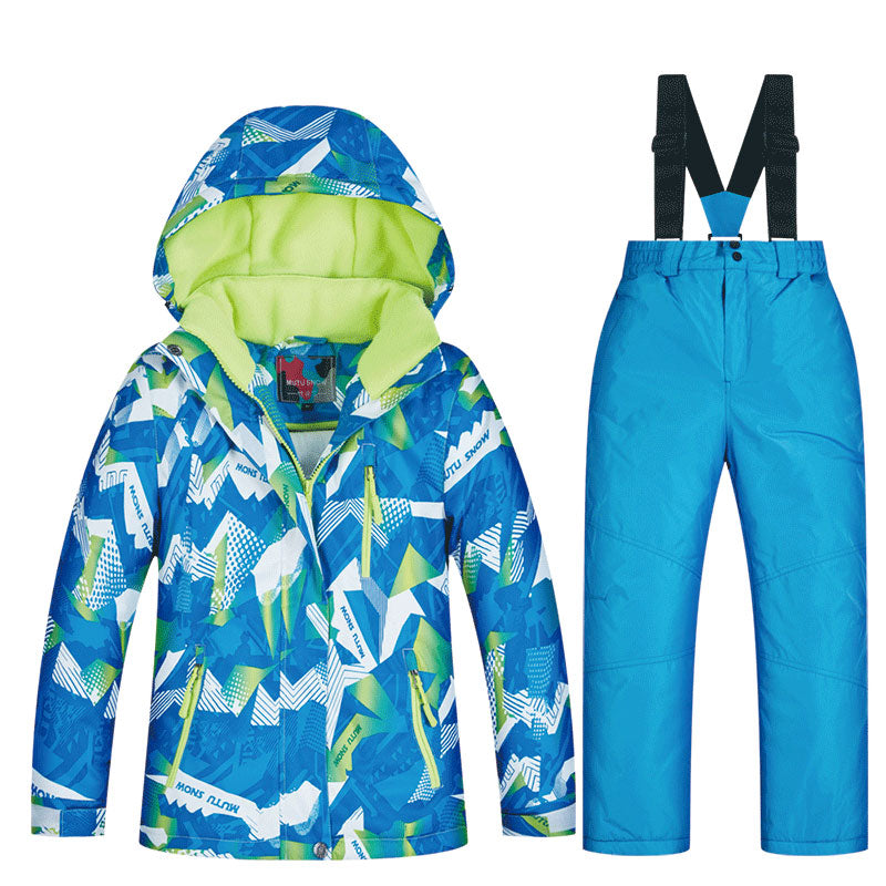 Boys Mountain Snow Breaker Waterproof Ski / Snowboard Winter Suits