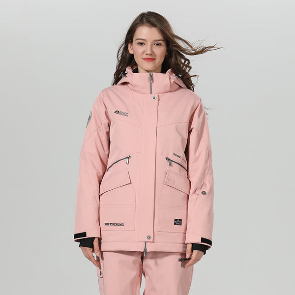 Women's High Experience Top Quality Winter Outerwear Mountain 15k Waterproof Pink Ski Snowboard Jackets