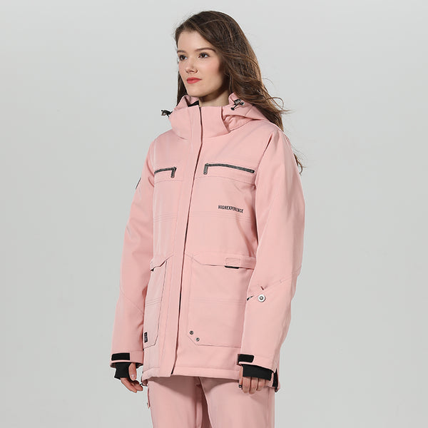 Women's High Experience Top Quality Winter Fashion Outerwear 15k Waterproof Pink Ski Snowboard Jackets