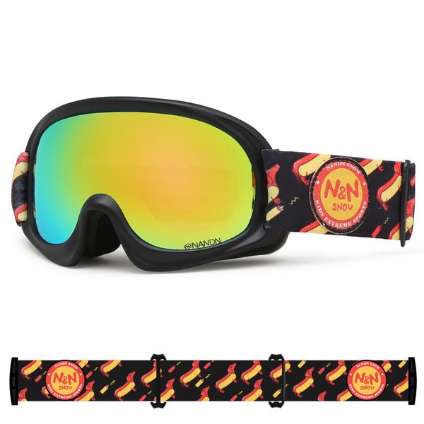 Kids Nandn Unisex Wintersports Fashion Ski Goggles Package
