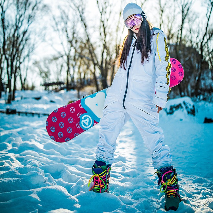 Women's PINGUP Poison Artist One Piece Snowboard Suits