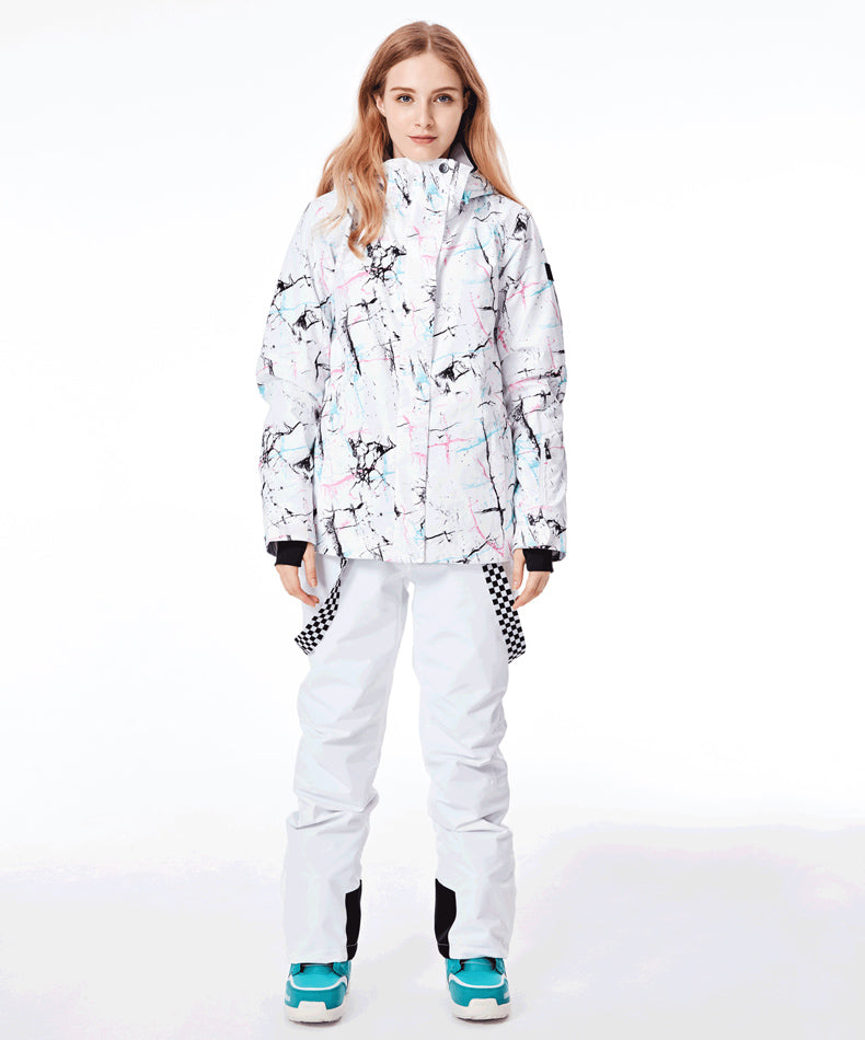 Women's SMN Winter Fashion Colorful Metropolis Ski Suits - Jacket & Pants Set
