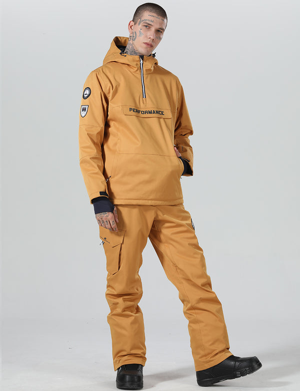 Mens High Experience Two Pieces Snowboard Suit - Jacket & Pants Set