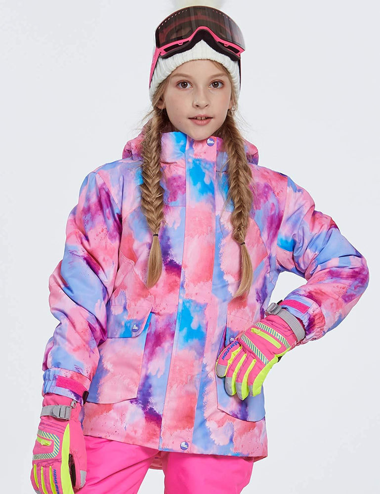 Girl's Phibee Color Painted Winter Outdoor Sportswear Waterproof Ski Jacket