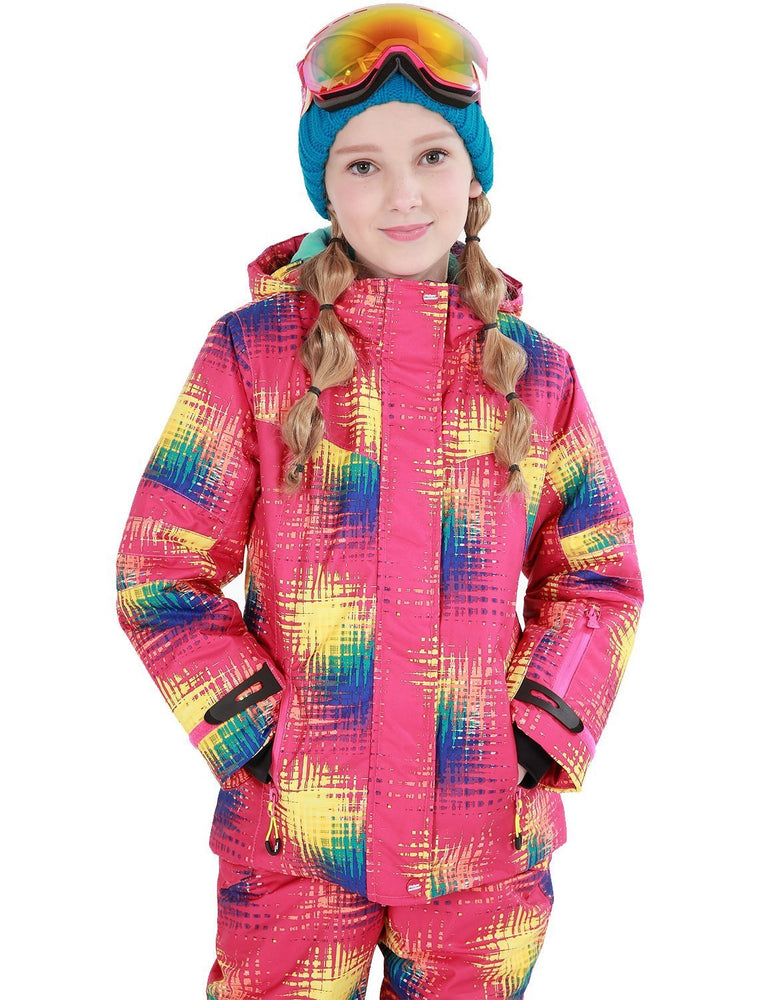 Girl's Phibee Fruitful Winter Outdoor Sportswear Waterproof Snow Jacket