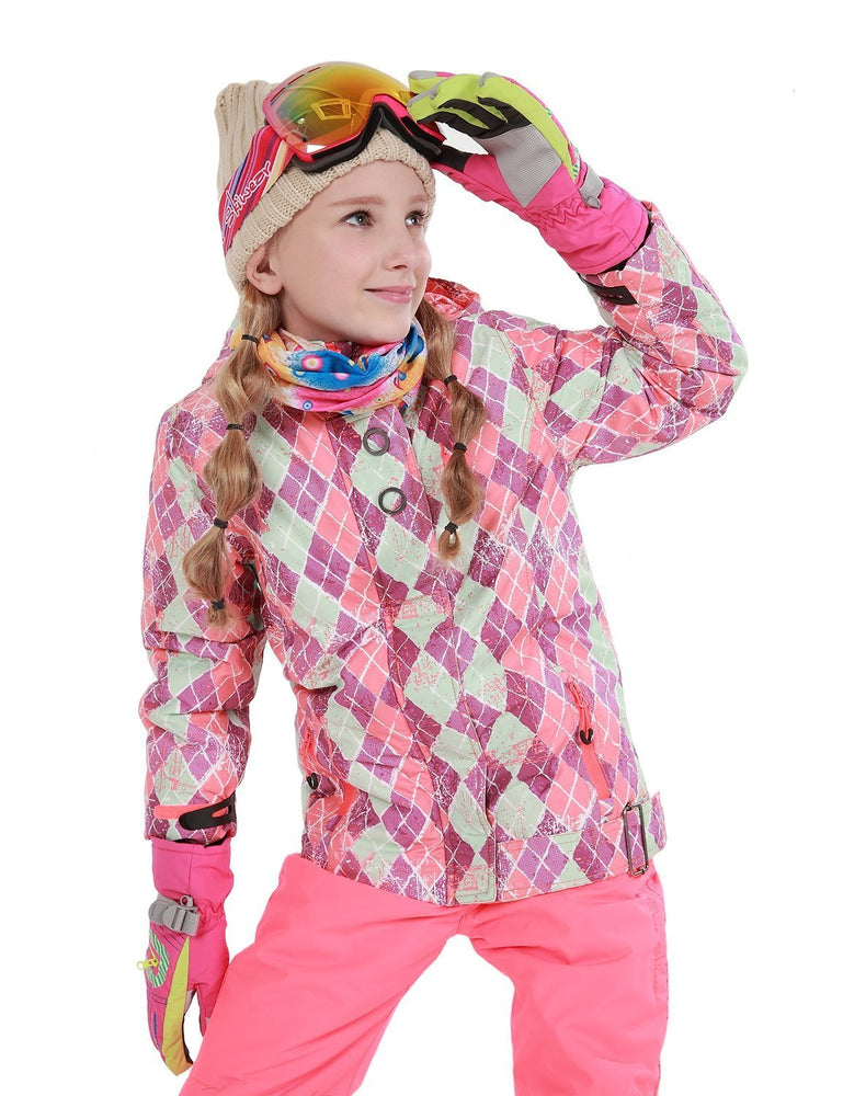 Girl's Phibee Honey Kids Winter Outdoor Sportswear Waterproof Snow Jacket
