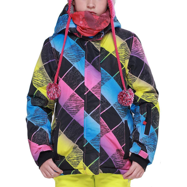 Girl's Phibee Mountains Lover Winter Outdoor Sportswear Waterproof Snow Jacket - snowverb