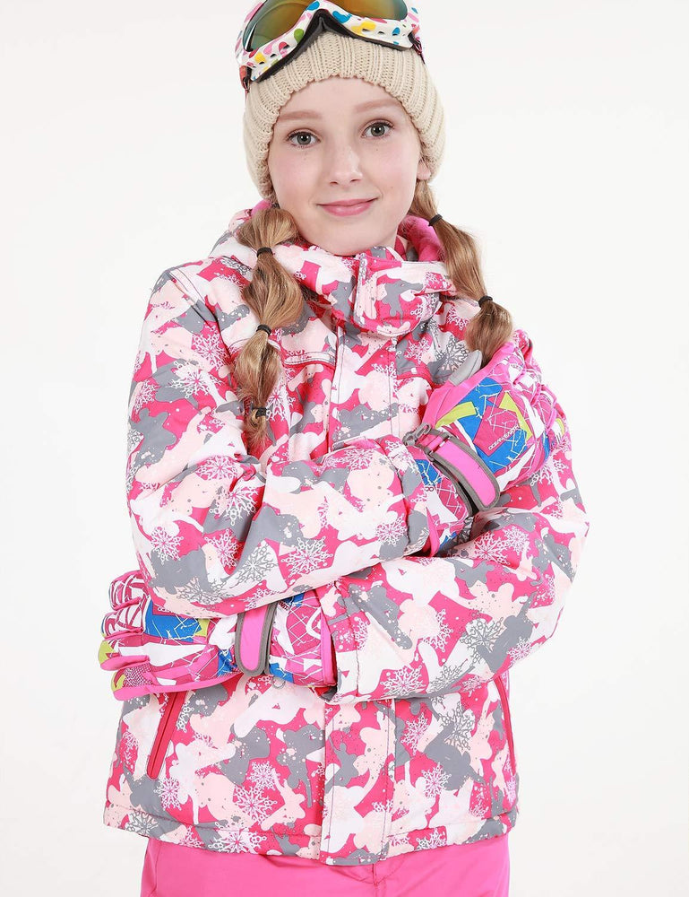 Girl's Phibee Snowfall Winter Outdoor Sportswear Waterproof Snow Jacket