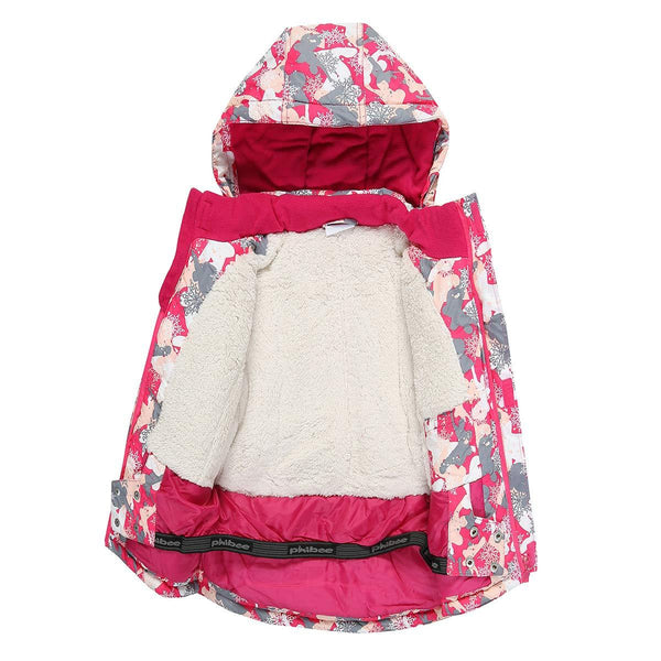 Girl's Phibee Snowfall Winter Outdoor Sportswear Waterproof Snow Jacket - snowverb