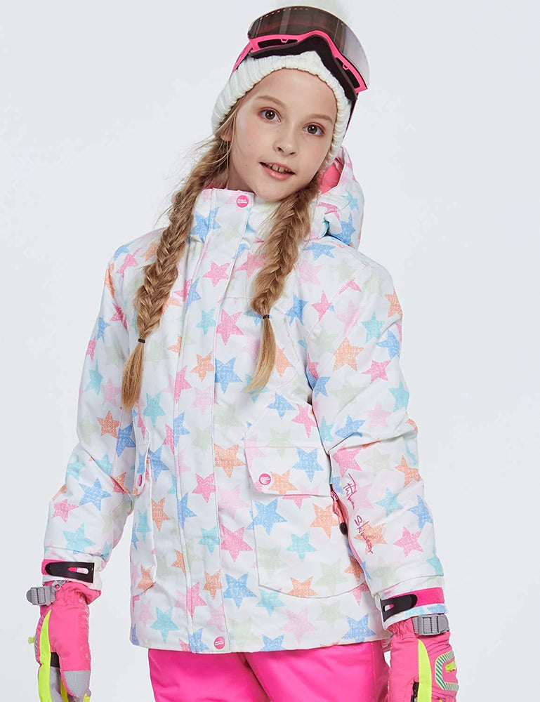 Girl's Phibee Starlight Winter Outdoor Sportswear Waterproof Snow Jacket