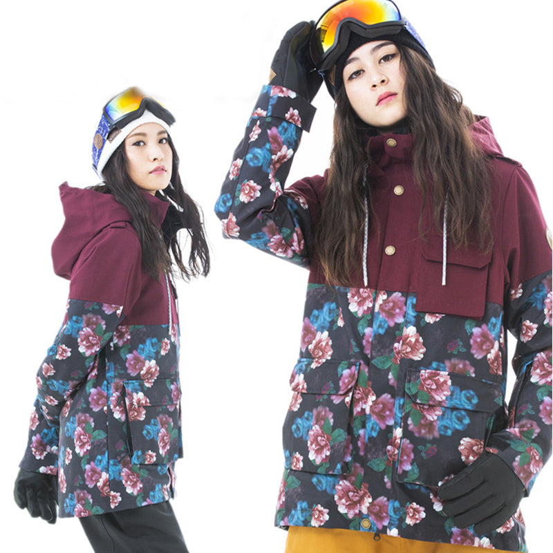 Women's Japan Secret Garden Grande Color Print Snowboard Jacket