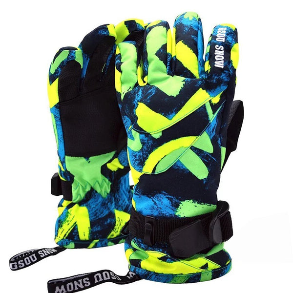 Kid's Winter Outdoor Snow Gloves - snowverb