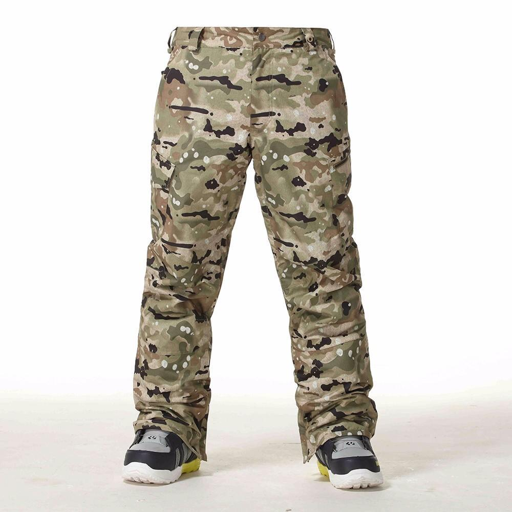 Men's Gsou Snow Mountain Pro 10k Camo Snowboard Pants