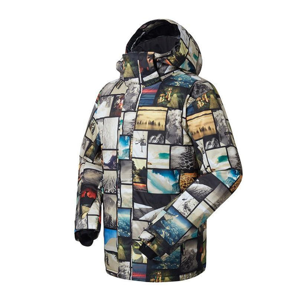 Men's Gsou Snow 10k Mountains Memory Adventure Snowboard Jacket - snowverb