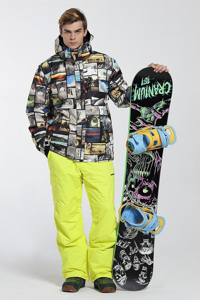 Men's Gsou Snow 10k Mountains Memory Adventure Snowboard Suits