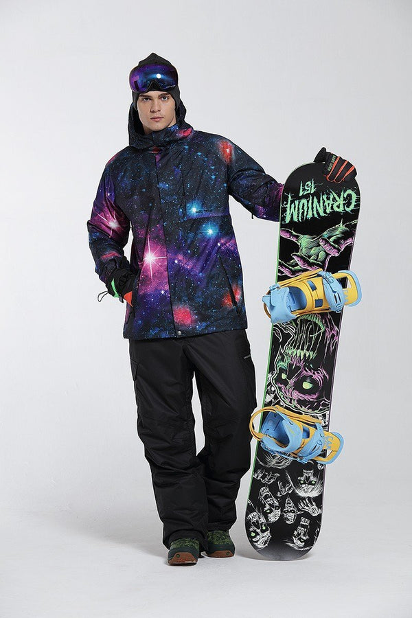 Men's Gsou Snow 10k Mountains Wolf 3D Printed Snowboard Jacket - snowverb