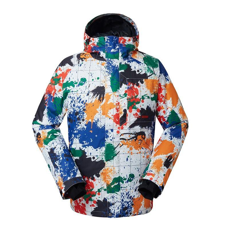 Men's Gsou Snow Chamonix Masterpiece Art Painting 10k Insulated Ski Jacket