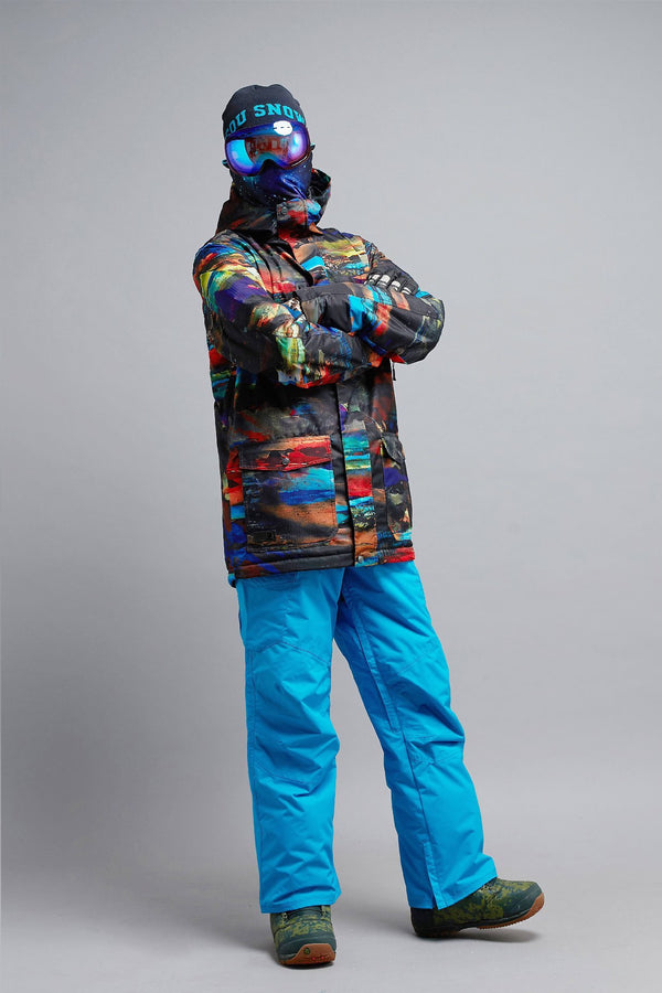 Men's Gsou Snow Mountain Elite Sunset 15K Insulated Snowboard Jacket - snowverb
