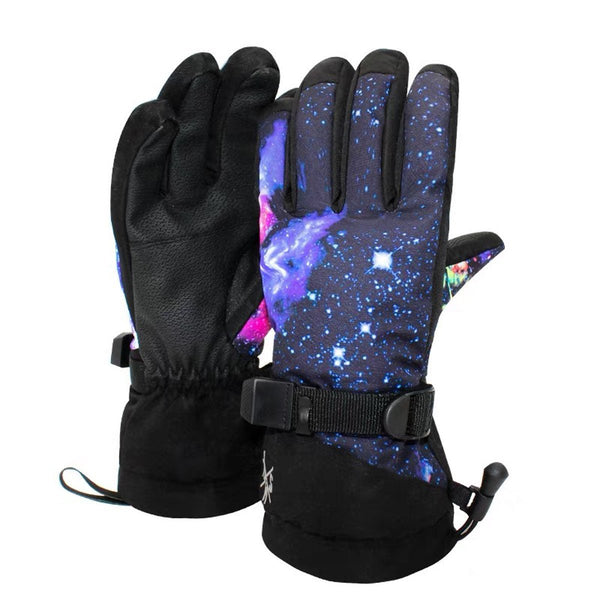 Men's New Fashion Colorful Waterproof Ski Gloves - snowverb