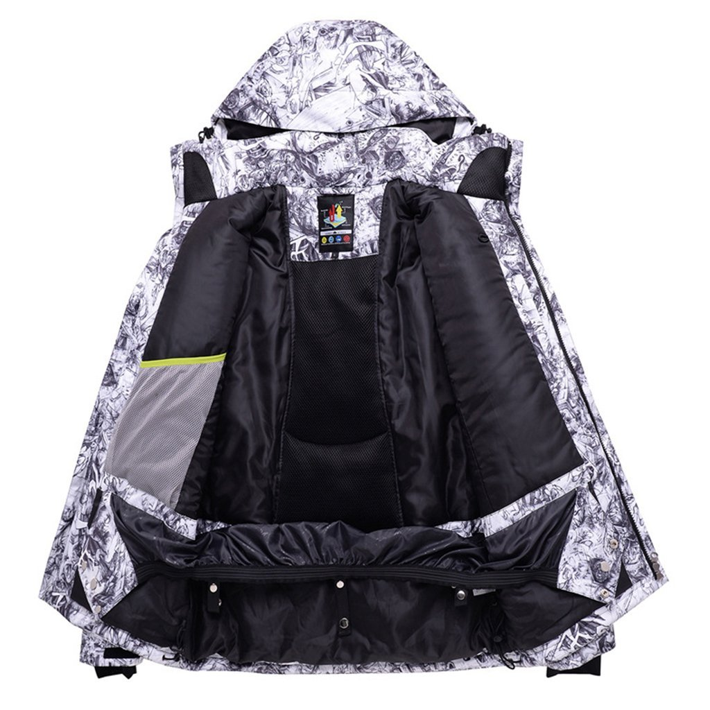 Mens Performance Insulated Ski Jacket with Zip-Off Hood