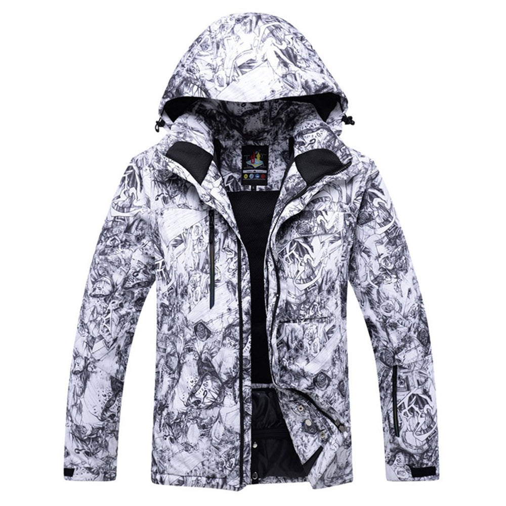 Men's Performance Insulated Ski Jacket with Zip-Off Hood
