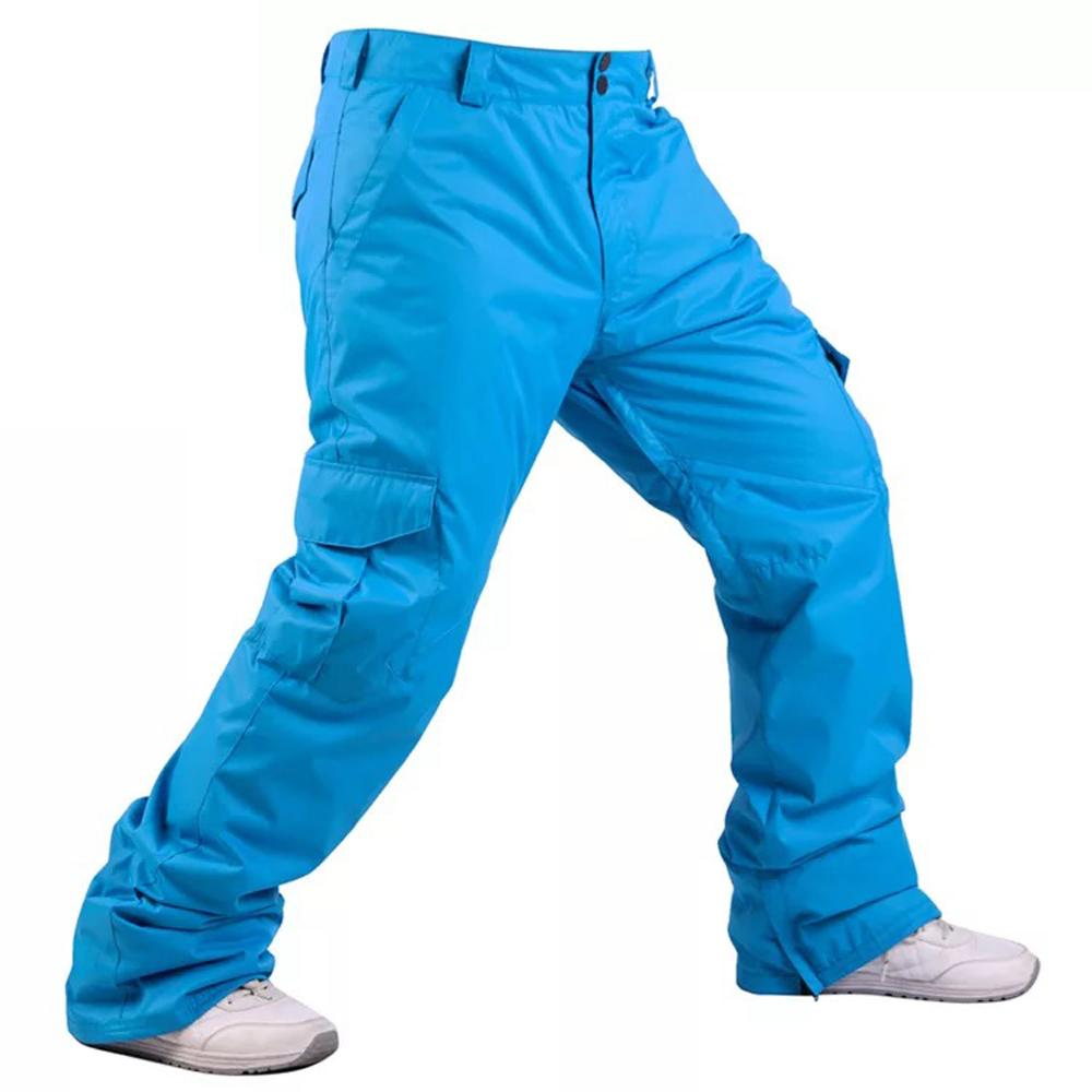 Men's Mountain Snow Waterproof Sports Cargo Snowboard Pants