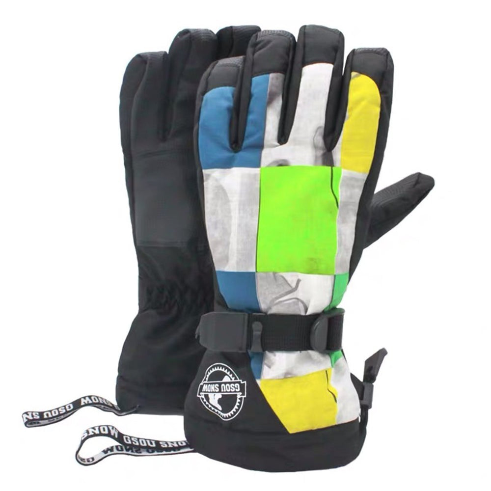 Men's Waterproof Lost In Mountains Ski Gloves