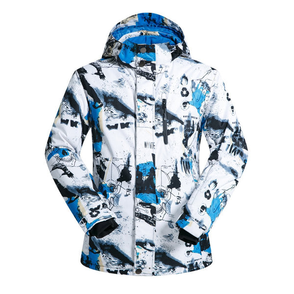 Men's Wild Snow Winter Impression Waterproof Insulated Ski Jacket - snowverb
