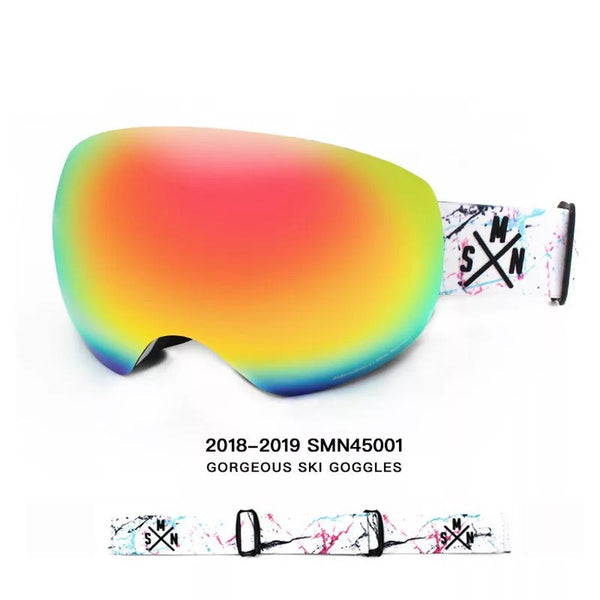 Unisex Color Strap Full Screen Ski Goggles - snowverb