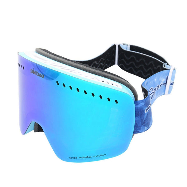 Unisex Phibee Snowboard Snow Goggles for Men & Women Anti-Fog UV Protection Spherical Dual Lens Design - snowverb