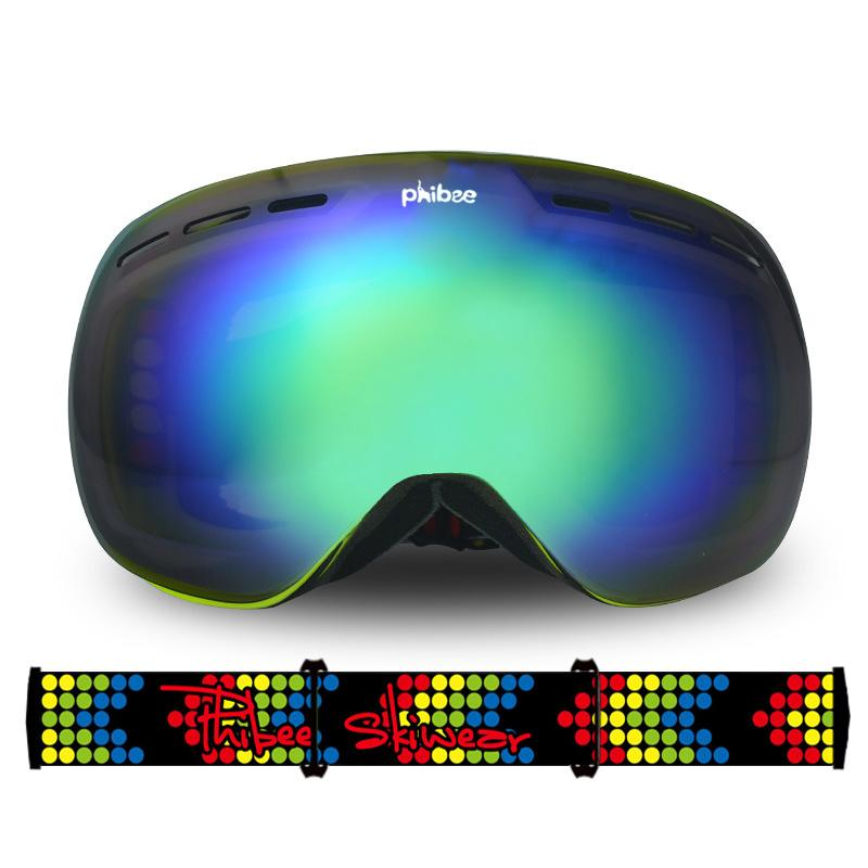 Unisex Phibee Snow Goggles Frameless 100% UV Protection