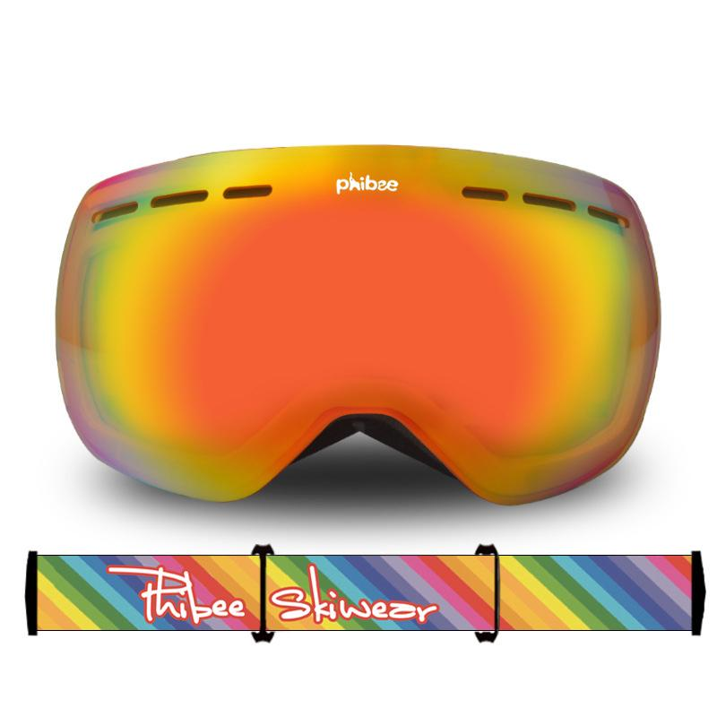 Unisex Phibee Ski Goggles Frameless 100% UV Protection
