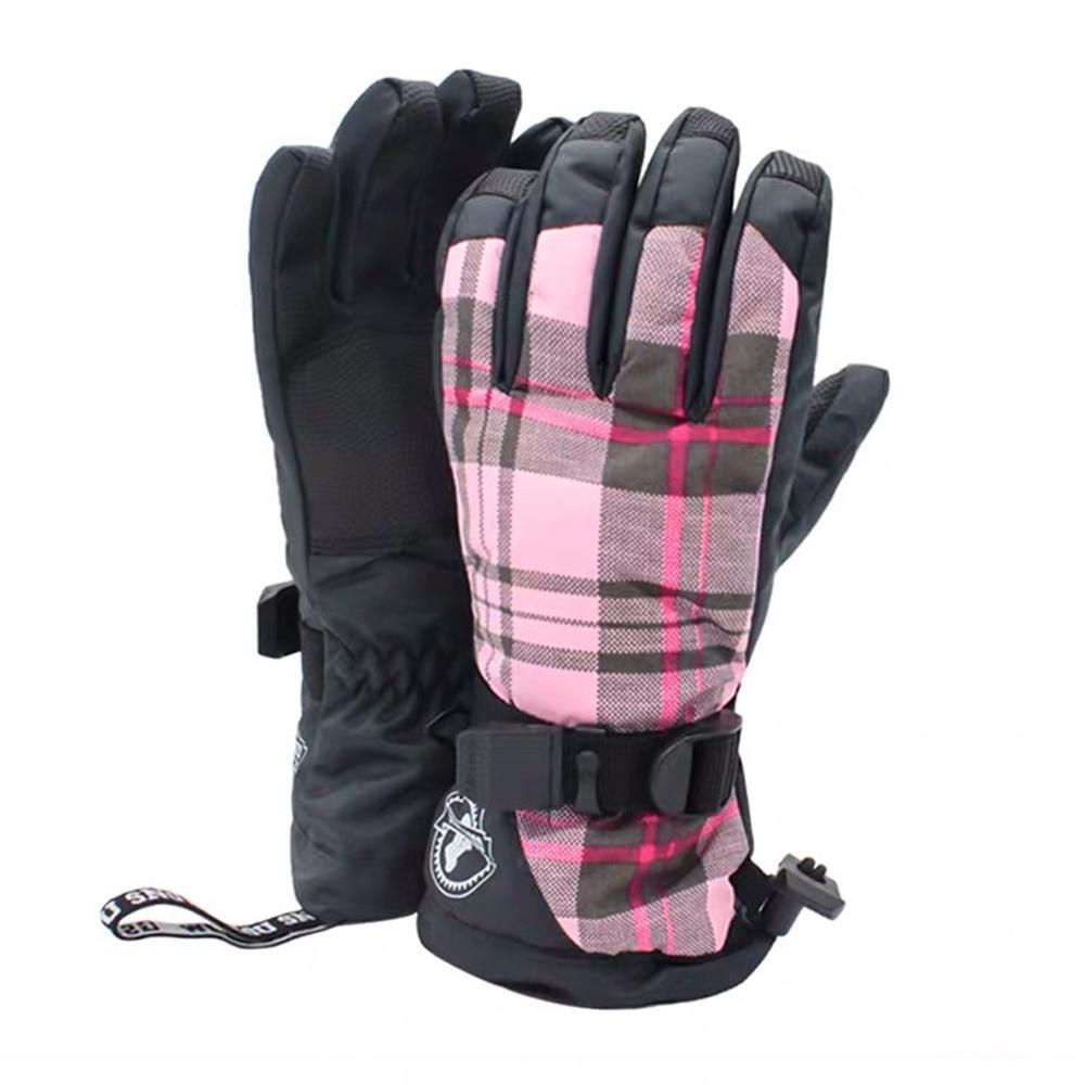 Women's British Colorful Waterproof Snowboard Gloves