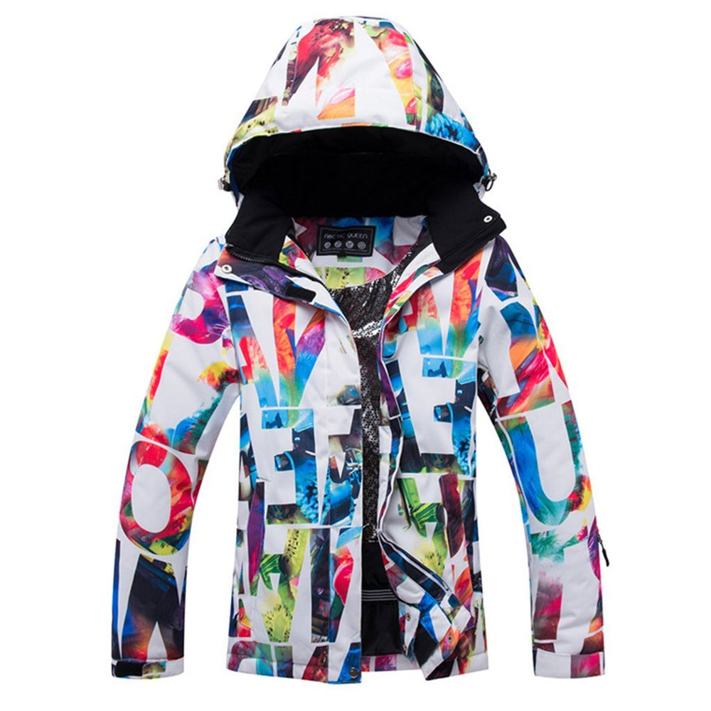Women's Colorful Performance Insulated Ski Jacket with Zip-Off Hood