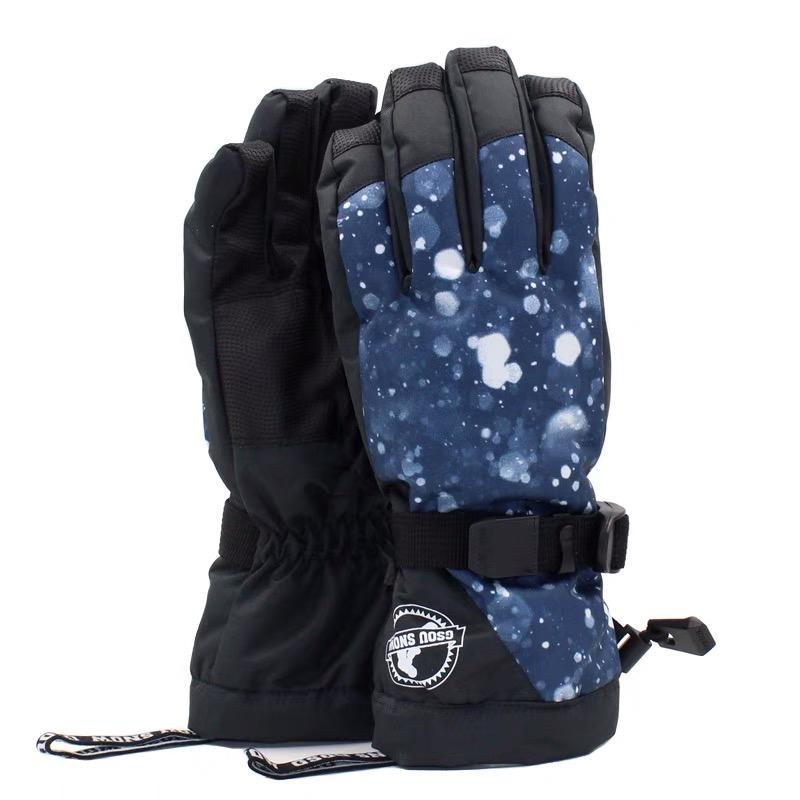 Women's Frost Flowers Waterproof Snowboard Gloves
