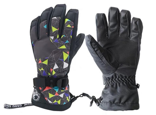 Women's Geometry Waterproof Ski Gloves - snowverb