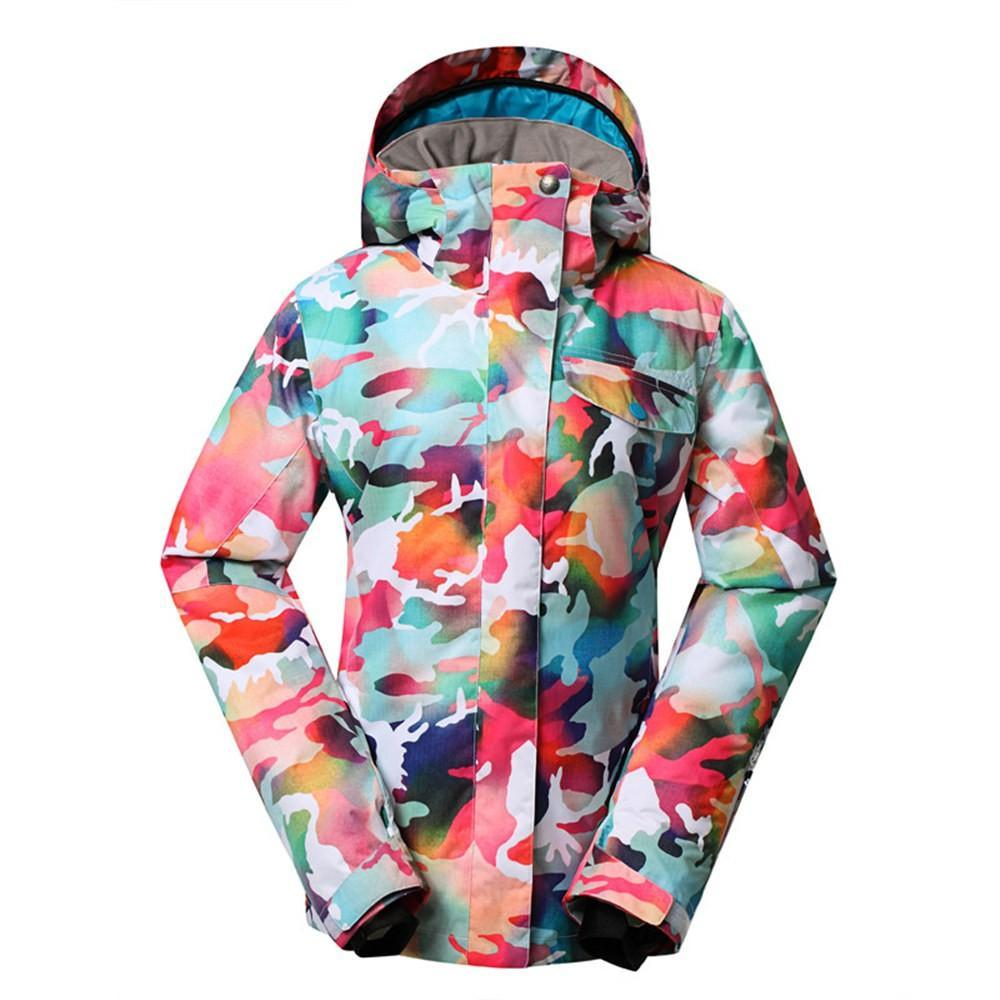Women's Gsou Snow 10k California Mountain Stylish Snowboard Jacket