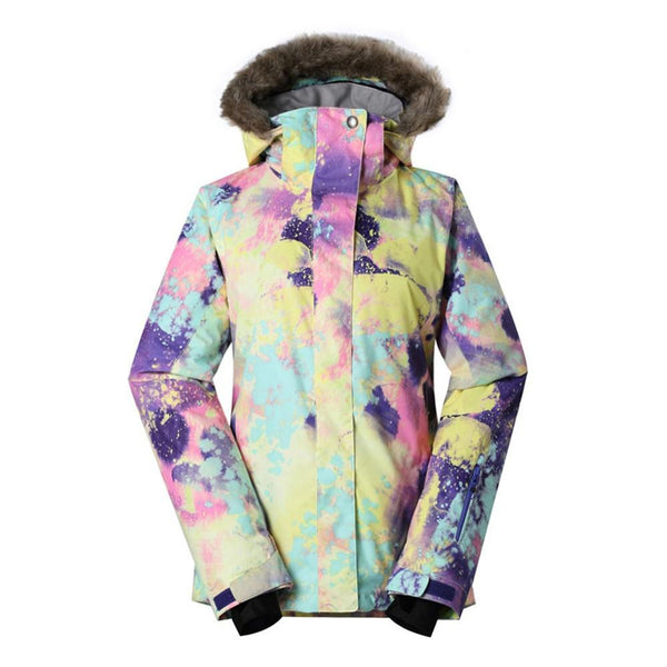 Women's Gsou Snow 10k Chic French Faux Fur Snowboard Jacket - snowverb