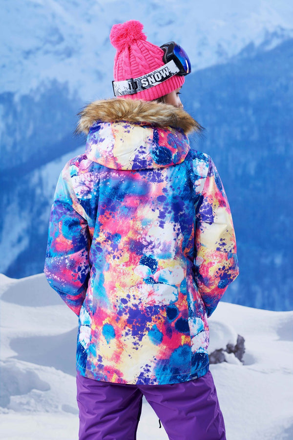 Women's Gsou Snow 10k Color Forest Snowsuits Snowboard Suits - snowverb