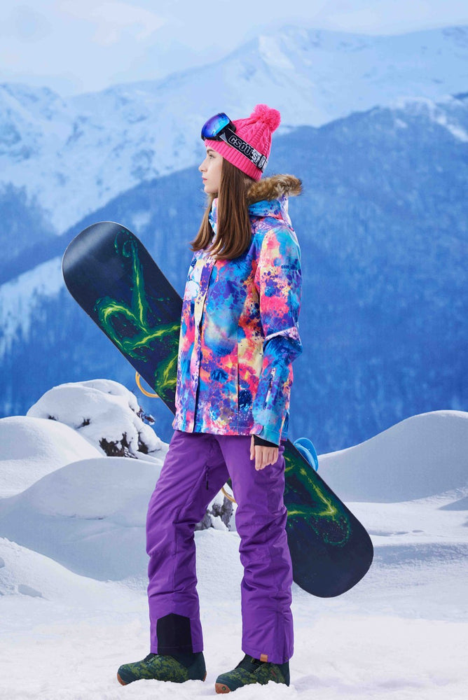 Women's Gsou Snow 10k Color Forest Snowsuits Snowboard Suits