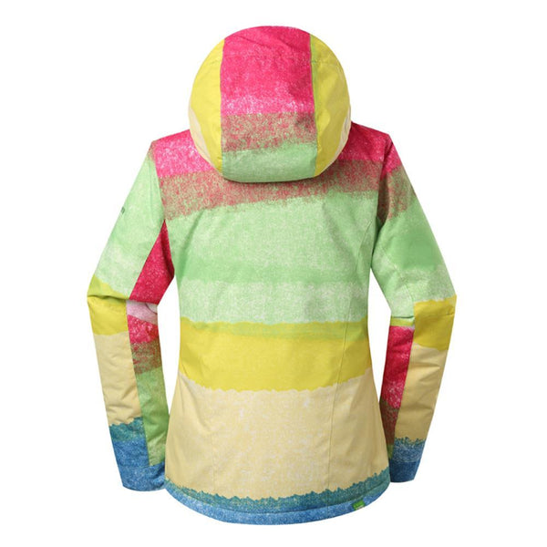 Women's Gsou Snow 10k Color Rainbow Mountains Ski Jacket - snowverb