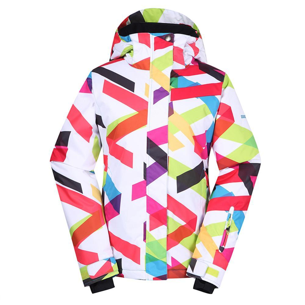 Women's Gsou Snow 10k Color Wave Snowboard Jacket