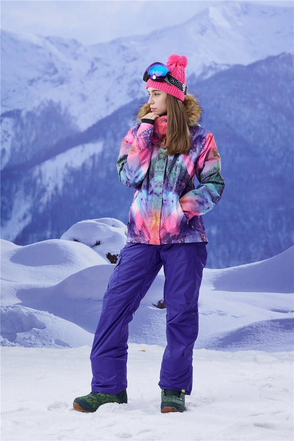 Women's Gsou Snow 15k Mountain Landscape Snowboard Jacket - snowverb
